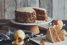 vegan apple spice cake with maple buttercream-recipes-hot for food
