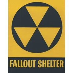 Fallout shelter sign,where we were suppose to go in case of a nuclear attack in the My Childhood Memories, Sweet Memories, Fallout Shelter Sign, School Safety, School Desks, Post Apocalypse, Ol Days, My Memory, Cold War
