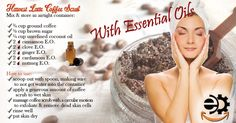 Essential Oils Flyer for autumn diffusers harvest latte coffee scrub