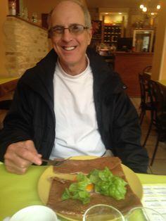 Crepe and egg salad Bayeux, France