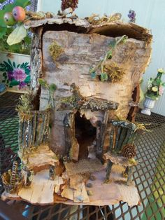 Woodland Fairy and Gnome House by brittpeace141 on Etsy