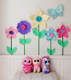 Room Nursery Decor Wall Flowers 3d Art Wall Decor Fabric Wall