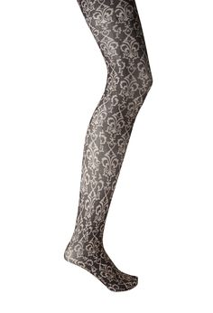 Baroque print tights