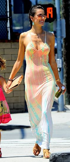#Gypsy05 Persephone Hand-Dyed Maxi Dress seen on #ALESSANDRA AMBROSIO $167.20 - $180.89