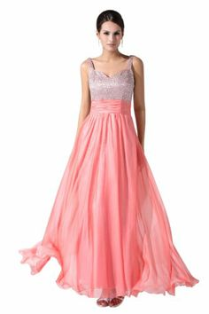 Love Pink!Long Prom Dress Long Prom Dress 2014