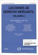LECCIONES DE DERECHO MERCANTIL VOL.I Y VOL. 2. Ángel Rojo, Aurelio Menéndez. Localización: 347/LEC/lec1/2