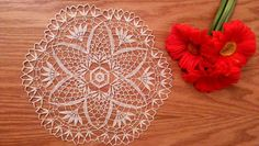 Lace crochet doily ecru round doily lace table by EstersDoilies, $14.00 #crochet #doily #lace