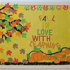 The best bulletin board ideas are the ones that, with only minimal alterations, can be used to complement several different units, seasons, or themes. This fall bulletin board idea from Renée. September Bulletin Boards, Elementary Bulletin Boards, Bulletin Board Paper, Library Bulletin Boards, Preschool Bulletin Boards, Bulletin Board Display, Bullentin Boards, Colegio Ideas, Autumn Activities
