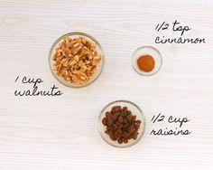 Delicious Cinnamon Raisin Walnut Nut Butter Recipe | Smoothie Addition | For 120 recipes of nourishing inspiration head to lornajane.com/nourish