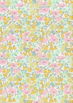 Poppy and Daisy H, Liberty Art Fabrics, CLASSIC COLLECTION, 100% Cotton Tana Lawn
