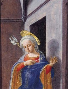 Filippo Lippi, L'Annonciation, détail (1437-39), Frick Collection, New York - Il s'agit sans doute d'une partie d'un petit retable