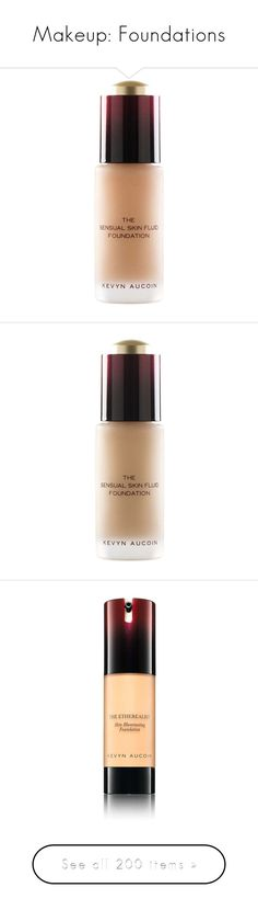 """""""Makeup: Foundations"""" by katiasitems on Polyvore featuring beauty products, makeup, face makeup, foundation, nude, oil free paraben free foundation, oil free foundation, kevyn aucoin foundation, paraben-free foundation and kevyn aucoin"""