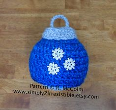 Christmas Ornament Beanie Pattern - Crochet Pattern Number 40 - US or UK Terms - Newborn to Adult - Crochet Hat PATTERN. $2.99, via Etsy.
