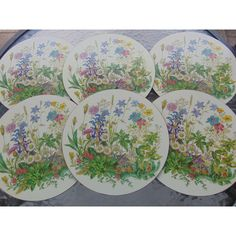 Pimpernel Place Mats Set of Six Floral Placemats Made in England ($30) ❤ liked on Polyvore featuring home, kitchen & dining, table linens, heat-resistant placemats, pimpernel placemats, pimpernel place mats, floral placemats and pimpernel table mats