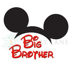 Mickey Mouse Printable Big Brother Iron On by EmoryLaneStudios, $3.75