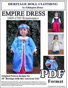 Renaissance Empire Dress Bodice Chemises Petticoat von MotherofNine