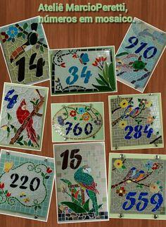 números em mosaico.