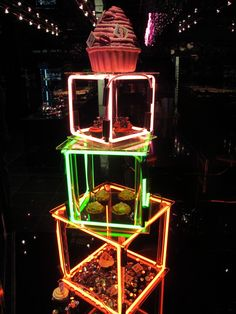 Neon cupcaek shop   Brewer St, Soho, London.   Rain Rabbit   Flickr
