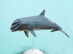 Origami Bottlenose Dolphin Designed By Syahmir From Uncut Square Paper Find This Pin And More