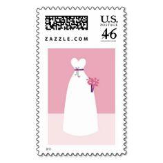 White Wedding Dress Stamps