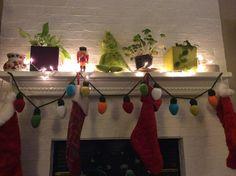 Knitted Christmas lights garland