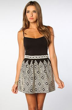 Free People The Embroidered Alexus Skirt in Optical Geo : Karmaloop.com - Global Concrete Culture
