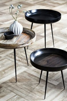 The Design Chaser. The Bowl Table service designed by Ayush Kasliwal made from sustainably harvested mango wood.