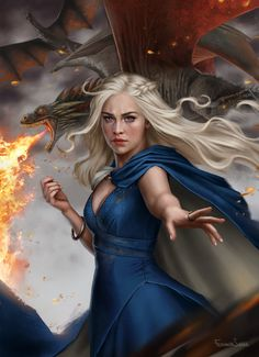 Beautiful Digital Painting of Daenerys Stormborn by fdasuarez: I will rule available on print here