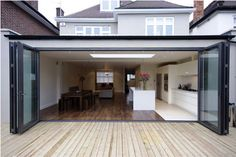 Bi-fold doors and deck bring the outdoors in