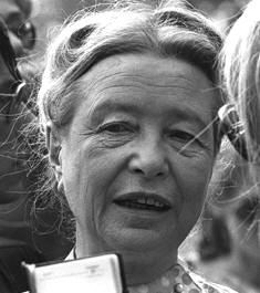 Simone de Beauvoir, French existential philosopher, author, feminist