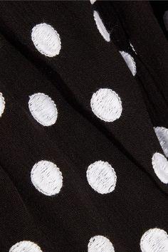 Mara Hoffman - Polka-dot Embroidered Poplin Playsuit - Black - x small