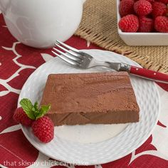 Unfamiliar with Marquise au Chocolat? It's a rich chocolate mousse frozen in a loaf pan, then sliced and served over creme anglaise.