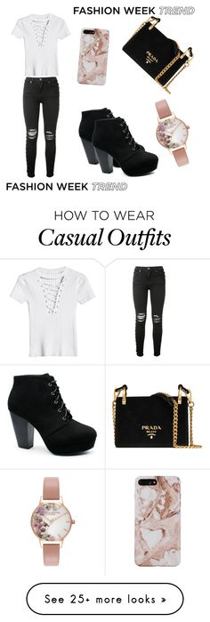 """casual runway"" by wintersummer1012 on Polyvore featuring AMIRI, Prada and Olivia Burton"