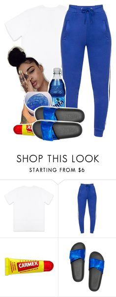 """Untitled #441"" by melaninmula ❤ liked on Polyvore featuring October's Very Own and Carmex"