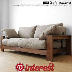 Authemticity-D Type walnut Sofa Simple Furniture, Ikea Furniture, Furniture Styles, Furniture Design, Wayfair Living Room Chairs, Living Room Sofa, Wooden Sofa Set Designs, Chicago Furniture, Wood Sofa