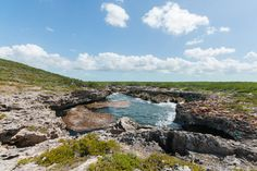 turks and caicos landscape   The Blowing Hole formation.
