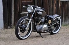 Triumph 650 1964 Bobber by Curbside Customs #motorcycles #bobber #motos | caferacerpasion.com