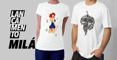 Camisetas descoladas com artes exclusivas e arte digital.