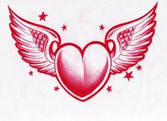 heart n winsg by WillemXSM Heart With Wings Tattoo, Great Tattoos, Awesome Tattoos, Heart Tattoo Designs, Tattoo Sketches, School Design, I Tattoo, Tatting, Symbols