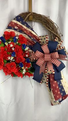 Wreaths For Front Door, Door Wreaths, Rustic Wreaths, Grapevine Wreath, Burlap Wreath, Christmas Bows, Christmas Tree Toppers, Year Round Wreath, 4th Of July Wreath