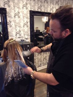 Jonnie working his #balayage magic