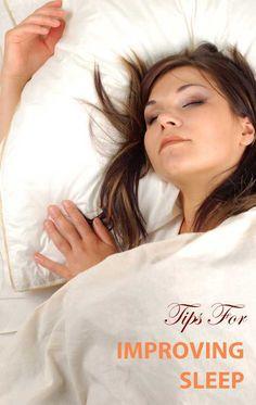 Tips For Improving Sleep