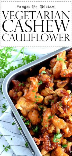 Vegetarian Cashew Cauliflower - Lord Byron's KitchenAre you currently after delicious vegetarian recipes? Tasty Vegetarian Recipes, Vegetarian Entrees, Vegan Dinner Recipes, Vegan Dinners, Vegetable Recipes, Whole Food Recipes, Cooking Recipes, Healthy Recipes, Cashew Recipes