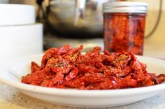 Homemade sundried tomatoes