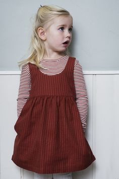 Serendipity Organics FW1920 - Cayenne Stripe Dress and Cayenne/Offwhite Rib Tee