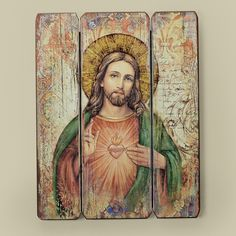 Sacred Heart of Jesus Wall Plaque