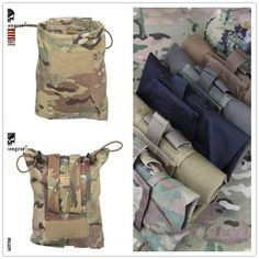 [Visit to Buy] New EMERSON Large Capacity Waist Molle Military Tactical Airsoft Paintball Hunting Folding Mag Recovery Dump Pouch MC CB MCBK $ #Advertisement