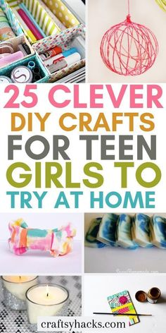 25 Super Cute DIY Crafts for Teen Girls Try these DIY crafts for teen girls and get creative. These fun DIY for teens will take your creative projects to a whole new level. The post 25 Super Cute DIY Crafts for Teen Girls appeared first on DIY Crafts. Easy Crafts For Teens, Diy Crafts For Teen Girls, Easy Diy Crafts, Cute Crafts, Diy For Teens, Diy Crafts To Sell, Crafts For Kids, Diy Crafts At Home, Creative Crafts