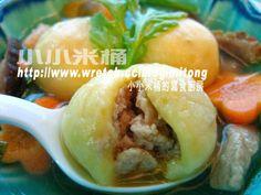 小小米桶: 鮮肉地瓜湯圓