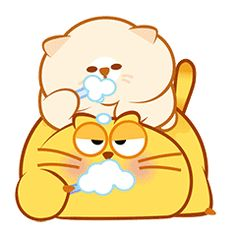 Gifts animados bonitos 57 ideas for 2019 Cute Love Gif, Cute Cat Gif, Cute Fat Cats, Kids Notes, Cat Emoji, Gifs, Yellow Cat, Anime Gifts, Line Friends